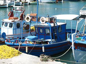 2007 -bootje in de haven van Heraklion