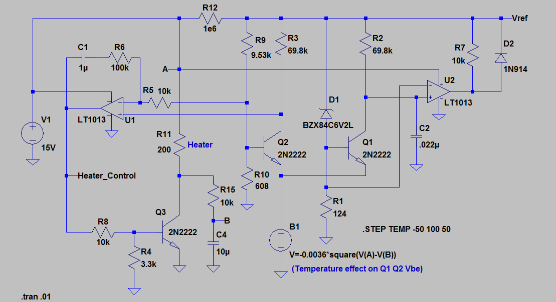 A SPICE model for the LTZ1000 Heater - KO4BB
