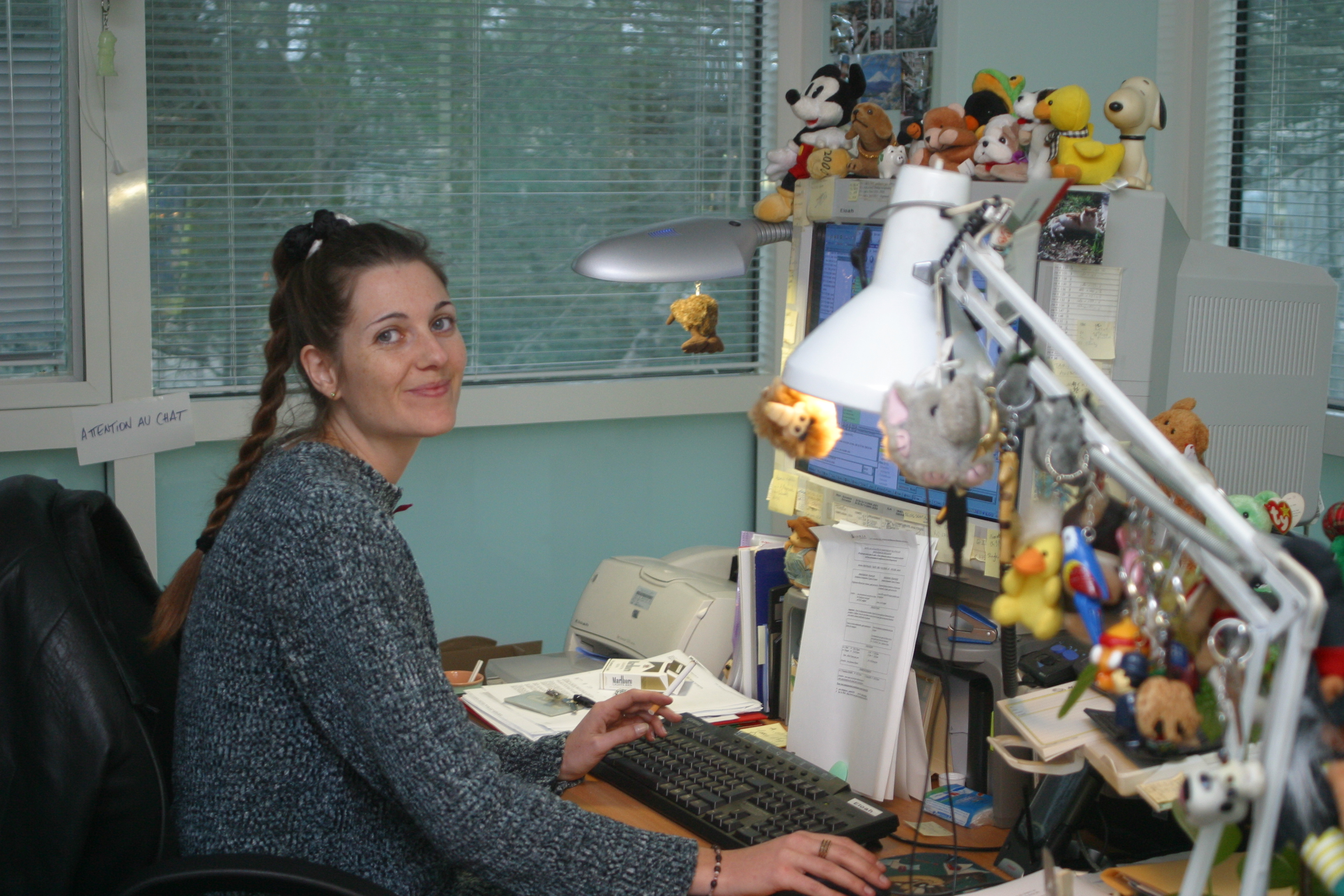 At my desk, 2003