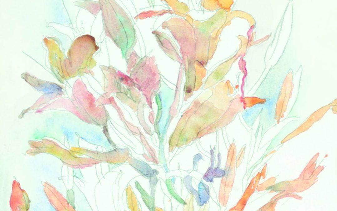 "Robert Sinclair RCA, CSPWC  ""Lilies"" 1965"