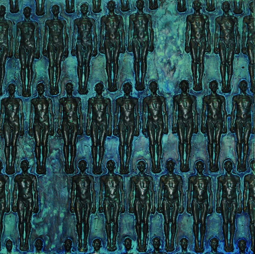"Ray Arnett - Untitled - 24"" x 24"" x 3"" Ray Arnatt - Untitled - 24"" x 24"" x 3"" Hydrocal, Faux Bronze"