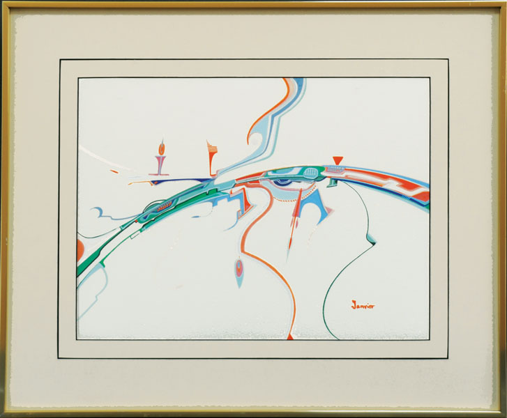 "Alex Janvier  ""Windy Swift Current"" Live Auction Lot# 13"