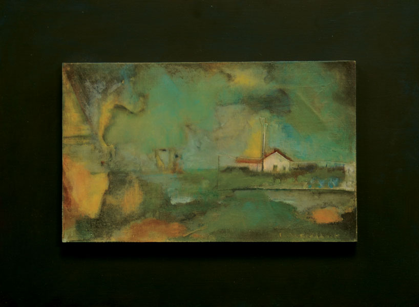 "Linda Craddock  "" Hometown Dreams: Change: Farmhouse in Storm""  Silent Auction  Lot# 109"