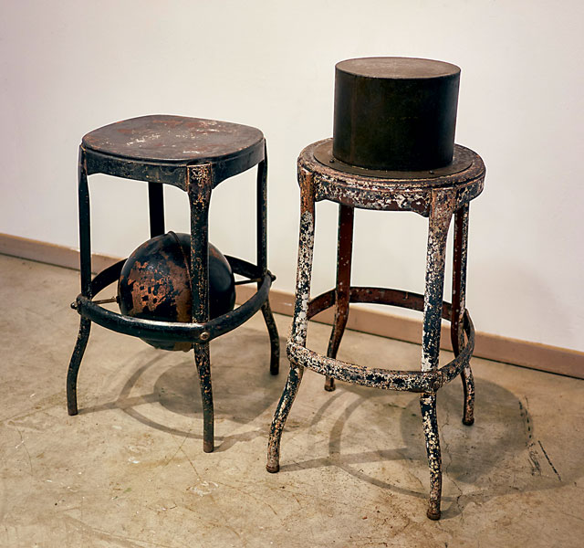 "Walter May  ""High Chairs (hat and globe)""  Live Auction Lot #19"