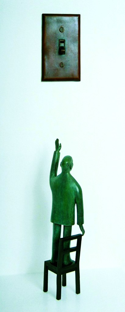 """Reinhard Skoracki """"Darkness"""" 120 x 6 x 25cm Bronze"""
