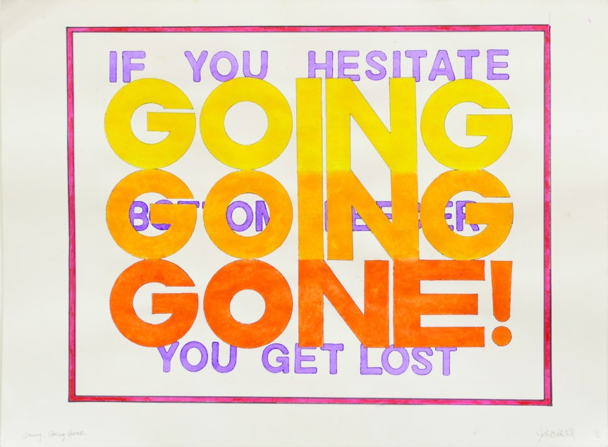 "John Will ""GOING GOING GONE!"" 22"" x 30"" Image Acrylic on Rives BFK"