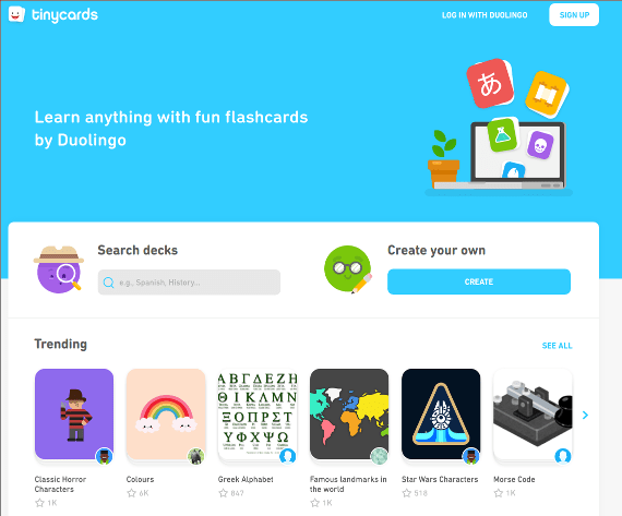 Thoughts on TinyCards: The DuoLingo Flashcard App