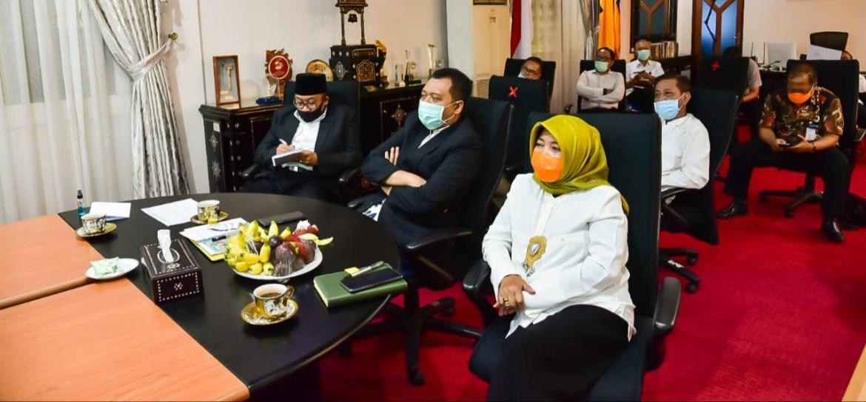 Bersama Menteri Kabinet Indonesia Maju, Gubernur NTB Rakor Daring Bahas Realokasi APBD 2020