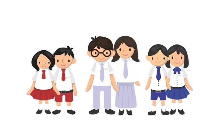 Animasi foto anak sekolah