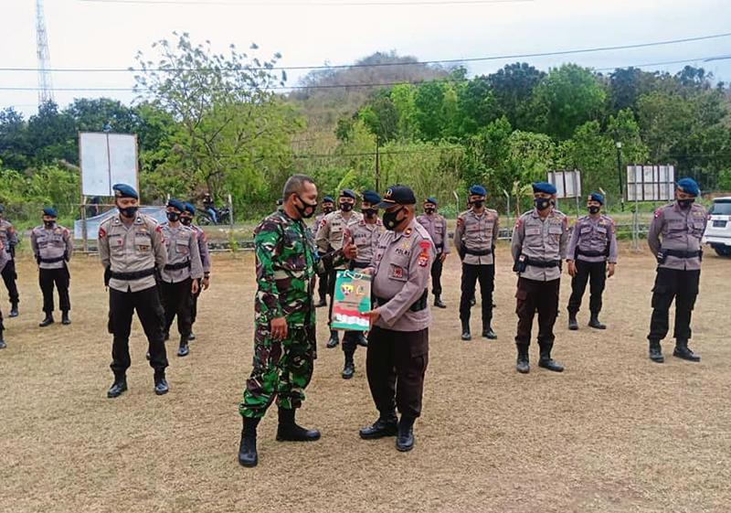 Tentara dan Brimob Siap Bersinergi Jaga Kondusifitas Sumbawa Barat