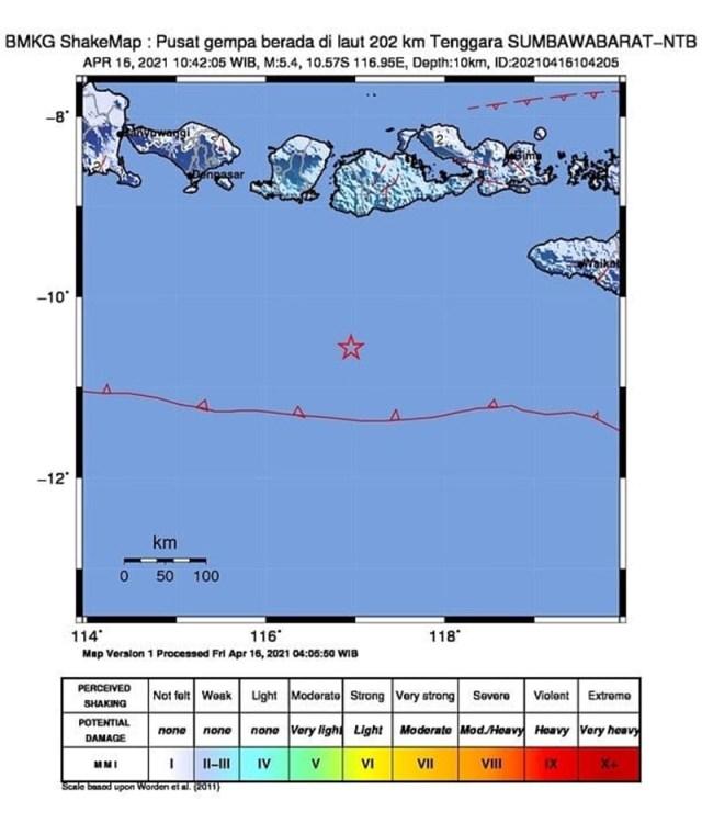 Gempa Sumbawa Barat 2 M 54