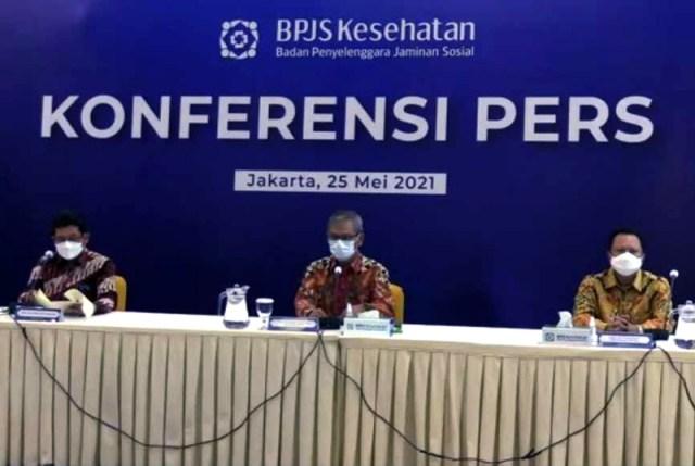 Konferensi Pers Dirut BPJS Kesehatan