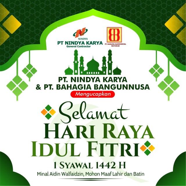 PT NK BBN Mengucapkan Selamat Idul Fitri 1442 H