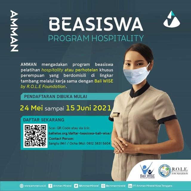 Beasiswa Perhotelan Amman Mineral Bali Wise