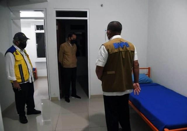 Presiden Jokowi Tinjau Fasilitas Kesehatan Untuk Penanganan Penderita Covid 19 Rusun Pasar Rumput Jakarta 2