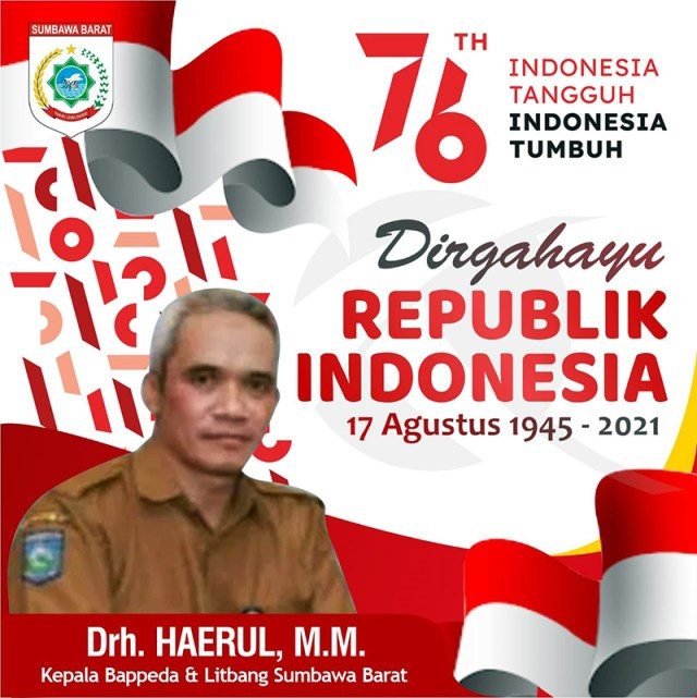 Iklan Dirgahayu RI Ke 76 Indonesia Tangguh Indonesia Tumbuh BAPPEDA LITBANG KSB