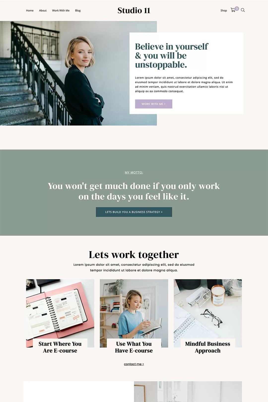 WordPress Theme For Personal Business – Studio 11