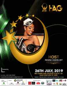 Media Personality Regina Van HelvertHosts Hospitality Awards Ghana 2019, July 26