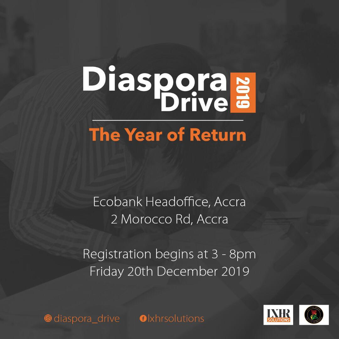 LX HR Solutions is excited to present to you the 3rd annual Diaspora Drive 2019.