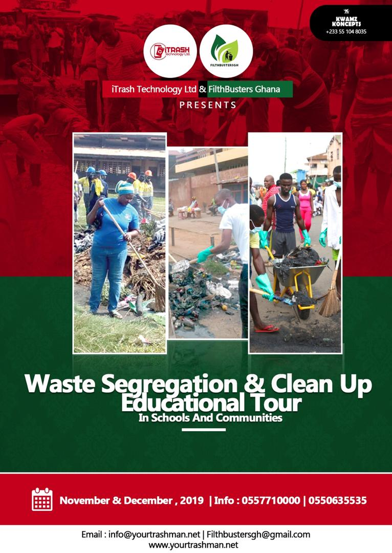 ITRASH TECHNOLOGY LIMITED IN PARTNERSHIP WITH FILTHBUSTERS GHANA TO EMBARK ON WASTE SEGREGATION EDUCATIONAL TOUR IN GHANA