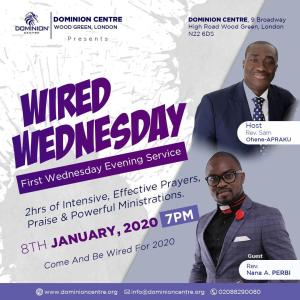 """It's """"Wired Wednesday"""" at Dominion Centre in London with Rev. Sam Ohene-Apraku"""