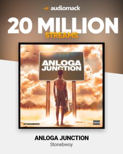 Stonebwoy's Anloga Junction Album Hits 20 Million Streams On Audiomack