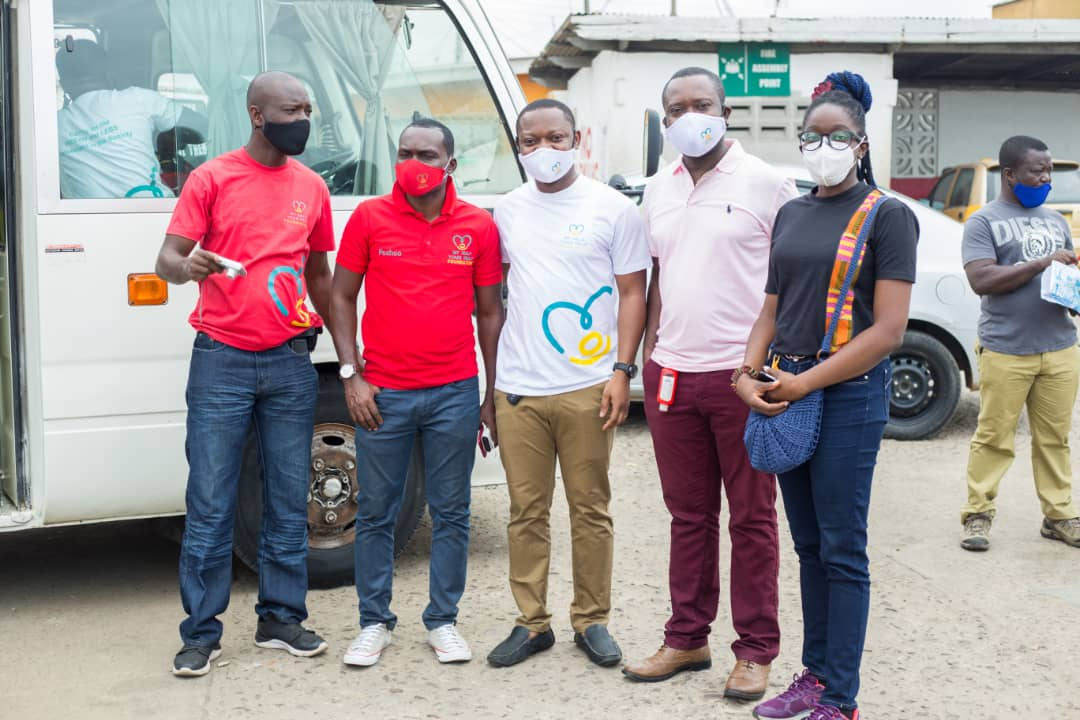 NGOs Donate Face Masks And Shields To Residents Of Chorkor