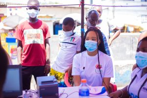 Read more about the article Fmr Miss Ghana Stephanie Karikari Registers 1000 Children Onto NHIS for Free
