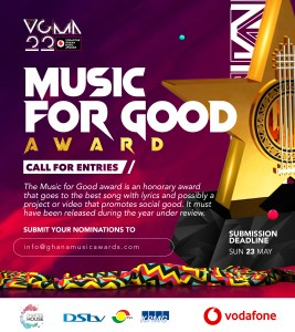 Charterhouse Reintroduces 'Music for Development' Category As 'Music for Good' for VGMA22: