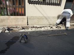 側溝補修工事