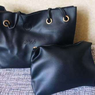 High quality good leather two set handbag for ladies