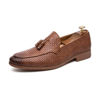 Men Tassel Business pointed Leather Shoes