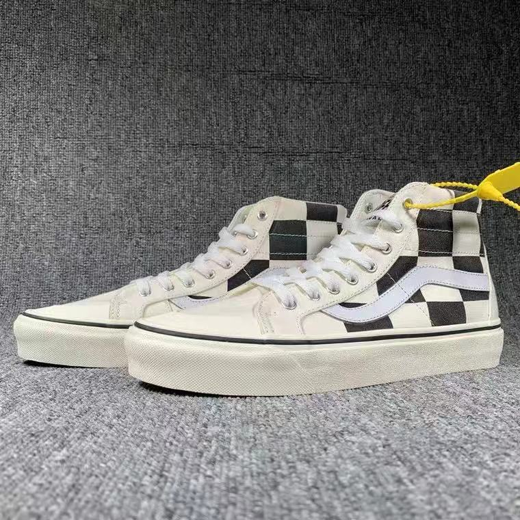 Long Checked Vans