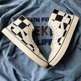 Long Vans Checked Men Size 43