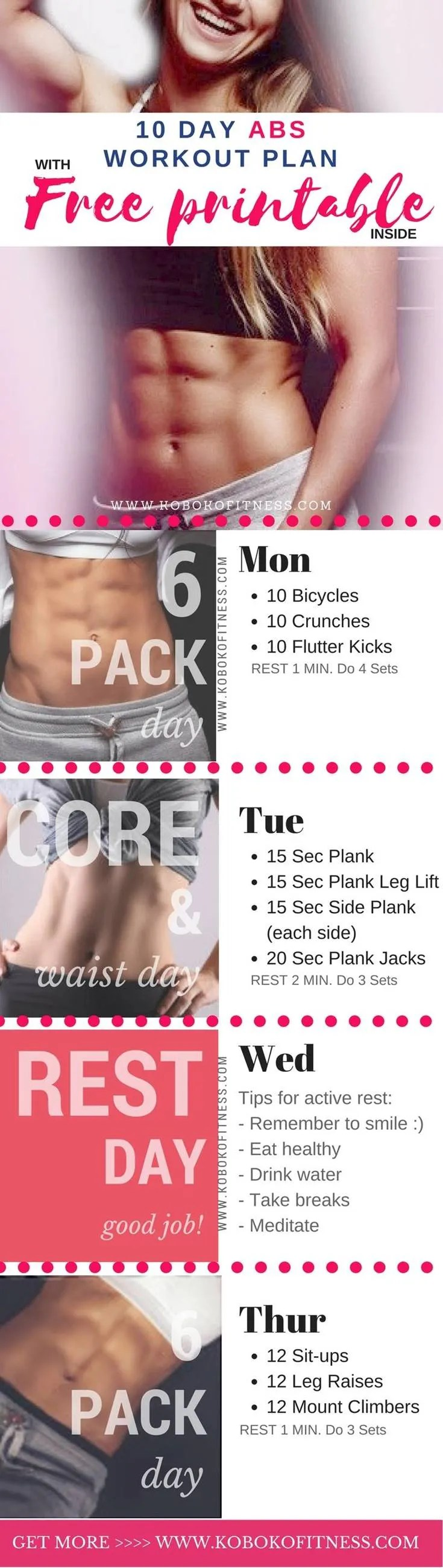 picture regarding Printable Ab Workout identified as 3 Easy and Basic at Property Ab Workouts for Hefty Good results
