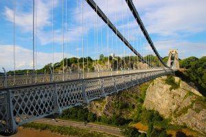 clifton-suspension-bridge-جسر كليفتون المعلق في مدينة بريستول