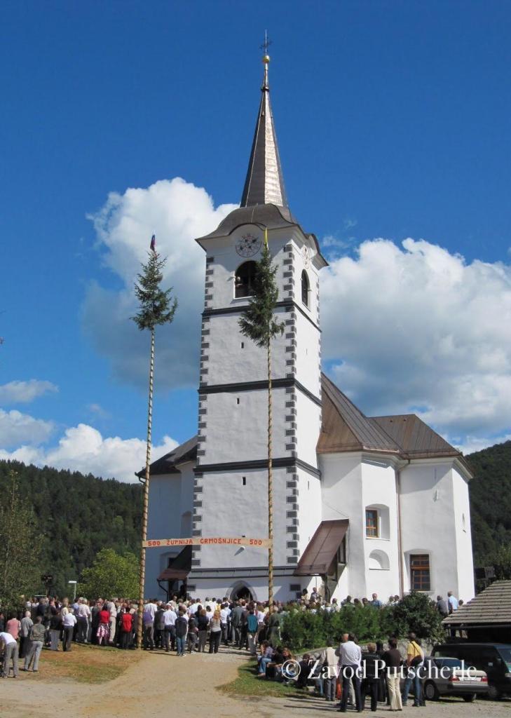 Cerkev v Črmošnjicah (Tschermoschnitz)