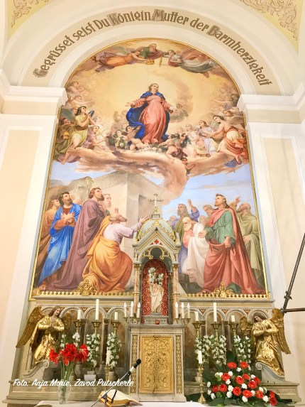 Fresco of the Assumption of Mary after the restoration work in 2020. Photo: Anja Moric.