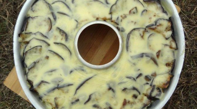 Kartoffelbrei – Auberginen – Auflauf aus dem Omnia Backofen