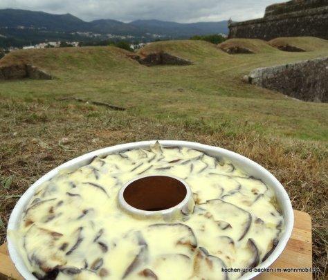 Genuss-Picknick in Portugal auf den Festungsmauern von Valenca do Minho