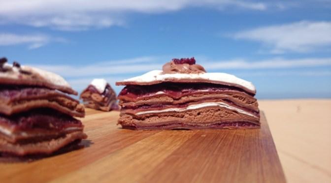 Schwarzwälder Kirsch Crêpes Torte