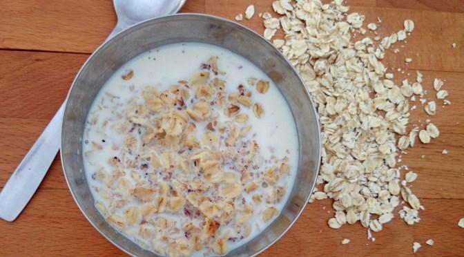 Porridge / Haferbrei mit gerösteten Haferflocken