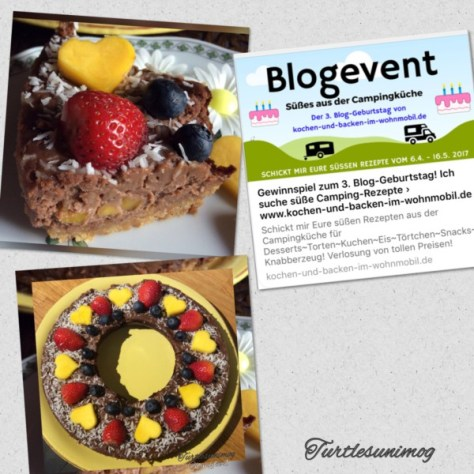Cheesecake mit Schoko und Obst