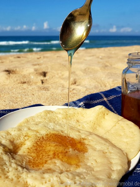 Marokkanische Pfannkuchen kochen-und-backen-im-wohnmobil.de
