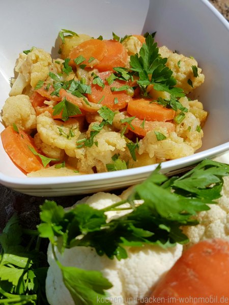 Curry mit Erdnuss und Gemüse www.kochen-und-backen-im-wohnmobil.de