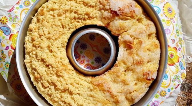 Butterkuchen / Zuckerkuchen / Streuselkuchen aus dem Omnia Camping Backofen