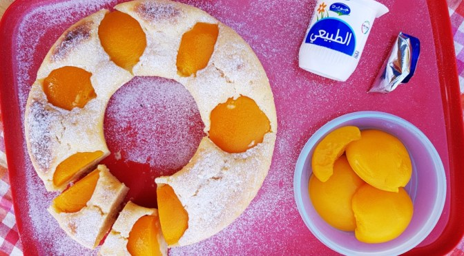 Schüttelkuchen mit versunkenen Früchten aus dem Omnia Camping Backofen