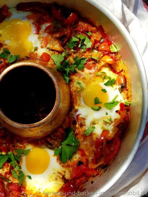 Low carb Rezept für den OMNIA Ofen:  Shakshuka