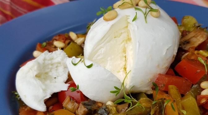 Ofengemüse mit Burrata aus dem Omnia Backofen