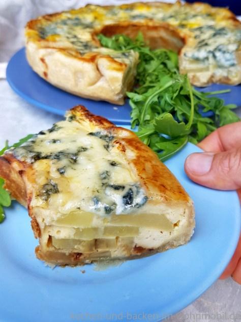Omnia Rezept: Kartoffeltarte mit Apfel und Gorgonzola